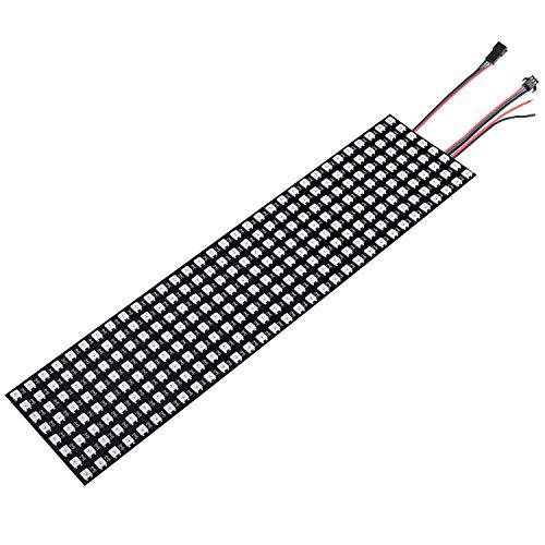 ytrew WS2812B Led Strip Panel Kit Matrix 8x32 256 Pixels Digital Flexible Built-in WS2812B IC LED Light with Full Dream Color Lighting DC5V