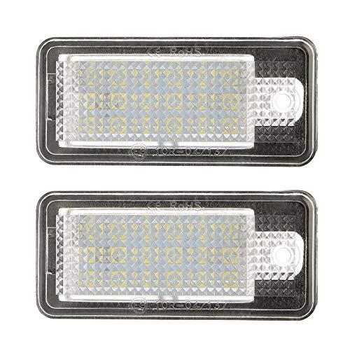 Luces De MatríCula Un par 18 Lámpara de luz de número de licencia para Audi A3 S3 A4 S4 B6 A6 S6 A8 S8 Q7 Luces De Placa