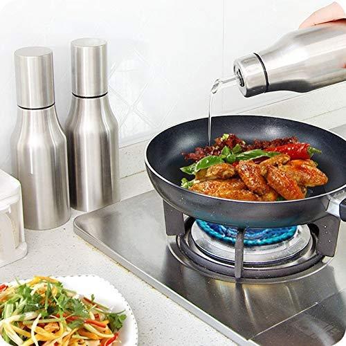 Lucario Oil Bottle Pot Kitchen Stainless Steel Olive Oil/Vinegar/Sauce Cruets Dispenser, Stainless Steel Pour Spout, Cooking Oil Vinegar Dispenser Set for Kitchen and BBQ (1 Litre)