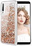 wlooo Phone Case for Samsung Galaxy A7 2018, Glitter Liquid