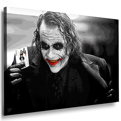 Boikal / Leinwand Bild Joker - Film Batman Heath Ledger Leinwanddruck, Kunstdruck fm30 Wandbild 120 x 80 cm