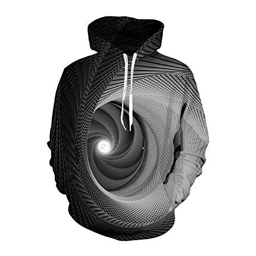 ZIXIYAWEI 3D Druck Hoodie Lustige Hoodies Sweatshirt Männer Frauen Hypnose Vortex Hoodie Whirlpool Drucken Hip Hop Trainingsanzug Streetwear L