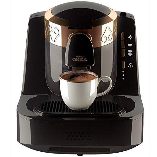 Arzum-Okka Hochwertige Moderne Türkische Mokka Maschine Kaffemaschine Schwarz/Kupfer, Farbe:Schwarz