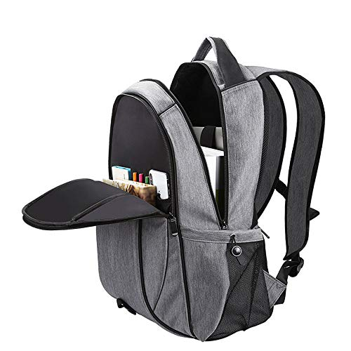 Solar Backpack,Waterproof Laptop Bag Foldable and Detachable with Solar Panel and External USB Socket Can Power Any Device for Outdoors Phone