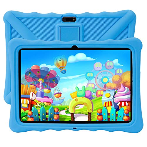 "Kids Tablet PC, Veidoo 10.1"" Android Tablet with Silicone Case, 3G Phablet with Dual Sim Card Slots, 1GB Memory, 16GB Storage, Premium Parent Control Pre-Installed Educational APP, (Blue)"
