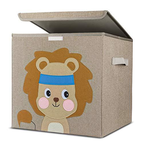 Aufbewahrungsbox Kinder, Kinder Aufbewahrungsboxen mit Deckel, Niedliche Spielzeugkiste, Aufräumsack für Kinderzimmer, Faltbox für Spielzeugaufbewahrung, Aufbewahrungskorb Kinder