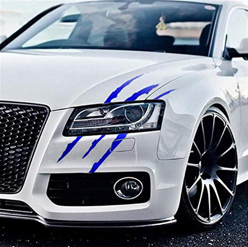 Dauerhaft Auto-Auto-Aufkleber Reflektierende Monster-Greifer-Scratch-Streifen-Muster-Scheinwerfer Abziehbild-Auto-Aufkleber Fahrradaufkleber, Auto, Motorradzubehör, (Color Name : Blue, Size : 2pcs)