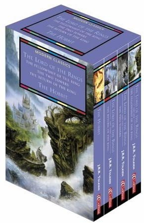 Collins Modern Classics - The Lord of the Rings/The Hobbit - Boxed Set of Four Books in Slip-case: AND The Hobbit by J. R. R. Tolkien (7-Oct-2002) Paperback