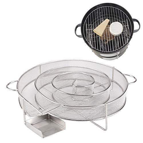 DHOUTDOORS Kaltraucherzeuger Kaltrauchgenerator Kalträuchern BBQ Rund Edelstahl für Grill und Smoker