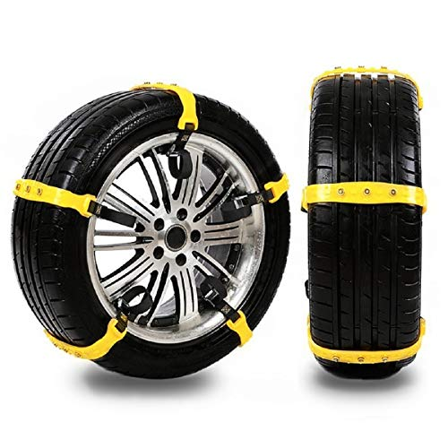 SOMOYA Snow Chains Universal Anti-Skid Tire Chains Emergency Snow Tire Chains for Passenger Cars and SUV,Easy Install 10 Pcs/Set