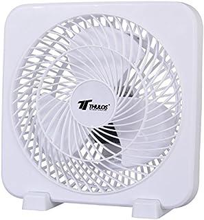 Ventilador cuadrado de 3 velocidades, alta velocidad, portátil y potencia de 45W. Color: Blanco