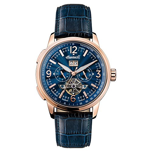 Ingersoll Men's The Regent Automatic Watch with Blue Dial and Blue Leather...