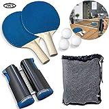 nobrand Red Ping Pong Rejilla portátil para Red de Tenis de Mesa con Pelota estándar y Red retráctil, Raqueta y Bolsa de Almacenamiento