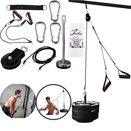 Unterarm Handgelenk Trainer Armmuskulatur Training Seil Seilzug System Arm Blaster Hand Festigkeit Ausrüstung für Bizeps Trizeps Home Gym Workout (Doppelseil)