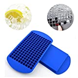 Mini 160 Ice Cubes Soft Silicone Tray Mould Tool Food Safe Ice Maker Easy Pop Out Non Stick Ice Cube Tray for...