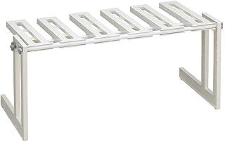 Belca ランドリー収納 そのままin 洗面下フリーラック 伸縮タイプ 幅50~75×奥行30.3×高さ30.9cm ホワイト 日本製 MTS-EX