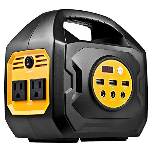 ExpertPower 200-Watt Portable Generator Rechargeable Lithium Power Station with 110VAC Outlets, 12VDC Outputs (Car Socket included), and USB QC3.0 for Camping and Emergency Power Supply