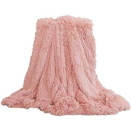 Grande fausse fourrure Plaids Canapé Lit Vison Doux Chaud Polaire Couvertures couleurs diverses