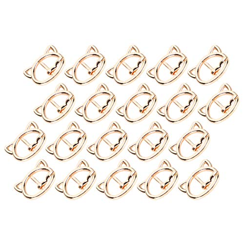 Labuduo 20pcs Cat Head Shape Gift Roller Buckles, Pin Buckle, Bracelets for Necklaces