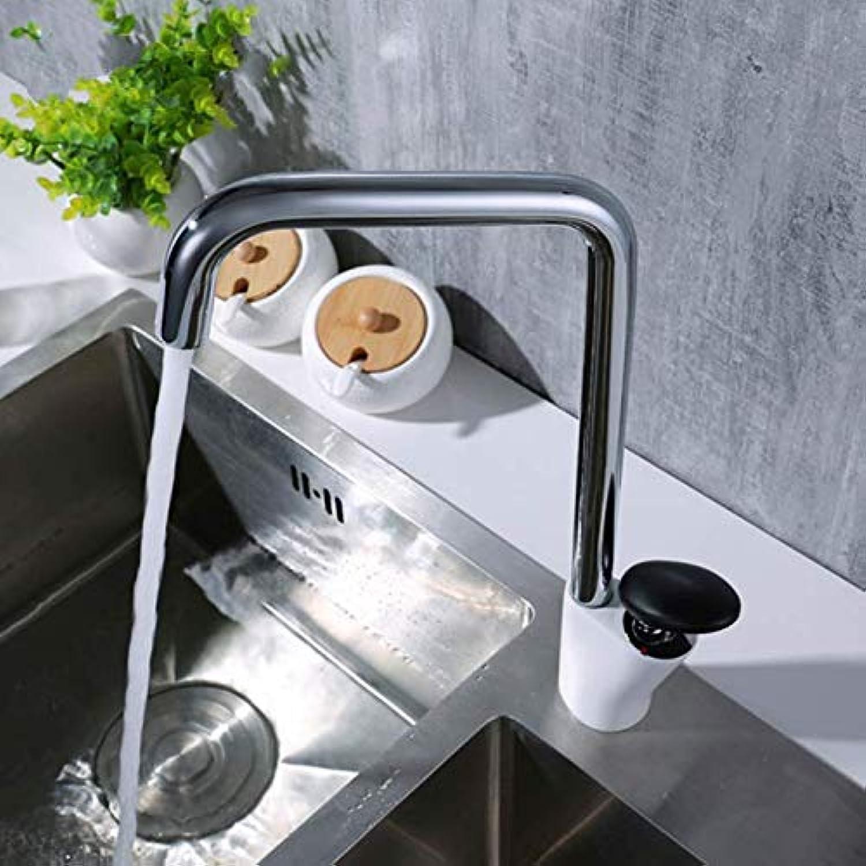 Wasserhahn Neue Ankunft Heies Und Kaltes Wasser Mixer Moderne Messing-Einhebel-Küchenarmaturen Waschbecken Wasserhahn Mit Schwarzen Runden Griff