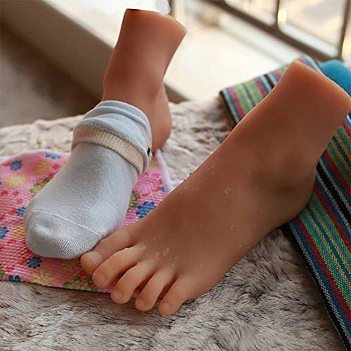 Silikonmodell des menschlichen Körpers Fuß Echtes Baby Größe Fußspielzeug - Mädchen Fuß Modell - Fußkultur Kunst Modell Fußfetisch Simulationsfuß,Apair