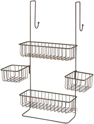 simplywire Bathroom Organiser Shelf 3 Tier Hanging Shower Caddy Basket ...