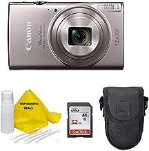 $169 » Canon PowerShot Elph 180 Digital Camera (Silver) with 32GB Card + Case + TopKnotch Kit