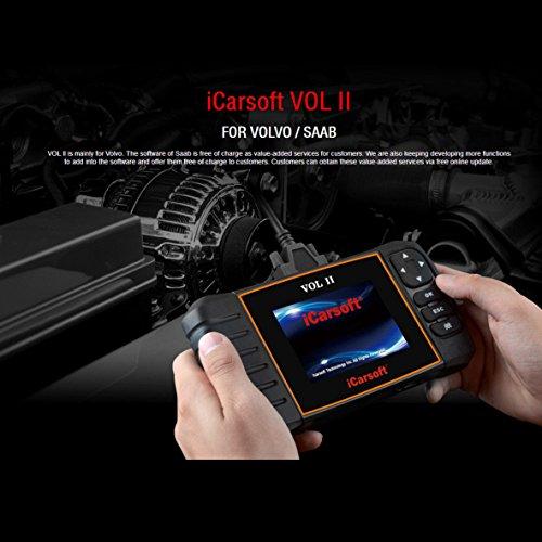 iCarsoft Volvo/SAAB OBD-II Multi-System-Scanner-Werkzeug, SRS ABS Motoröl-Reset, EPB i906-II