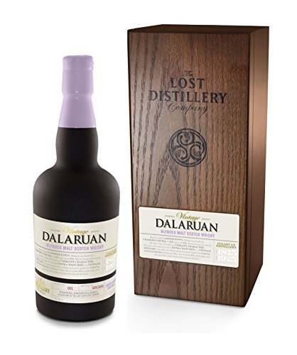 Photo of Dalaruan Vintage Selection from The Lost Distillery Company. 700ml, 43% Abv, Wooden box, Sherry finished smoky Campbeltown style