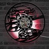 WERWN Decoración de Reloj LED Colgante de Arte de Coche de Vinilo clásico Moderno