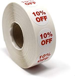 10% Off Sale Dot Sticker, 3/4