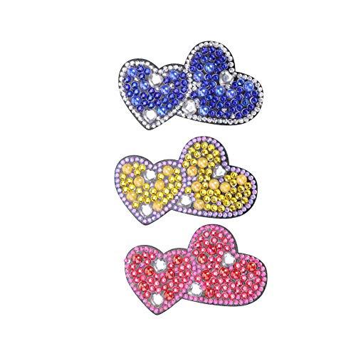 3 Stück Schmetterling Haarspangen Zubehör für Frauen Clips DIY Full Drill Diamant Malerei Strass Haarnadel