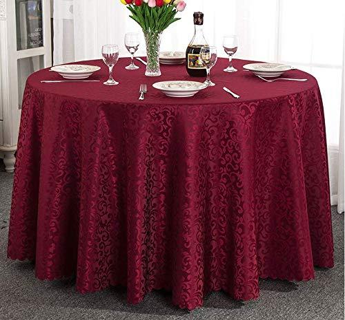 Kwaliteit WG Speciale Prijs: Katoen En Linnen Tafelkleed High-Precision Printing, Hotel Party Bruiloft Ronde Tafelkleed, Bordeaux rood, 1.6M