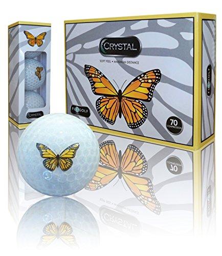 Crystal Golf Brand Golf Balls (Butterfly Logo)