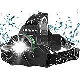 Fenvella Torcia Frontale LED USB Ricaricabile, Zoomable Lampada da Testa IPX6 Impermeabile Leggero...