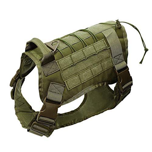 Leezo Hundeweste, Hundegeschirr, verstellbar, Netzgewebe, 1000D Nylon, leichte Jacken für Haustiere, M/L/XL XL Army Grün