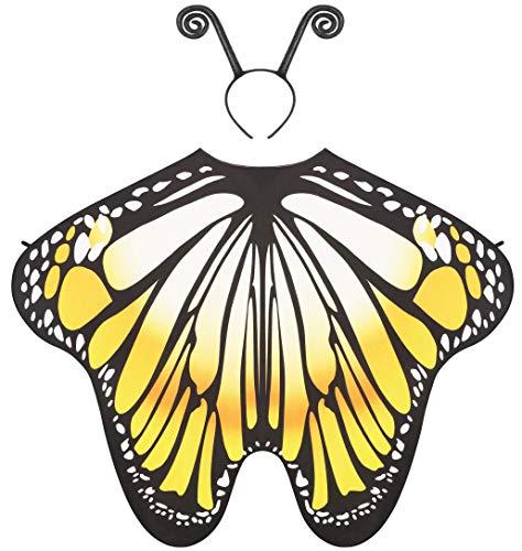Seawhisper Faschingskostüme Damen Kostüm Damen Halloween Schmetterling Damen Flügel Feenflügel Greb