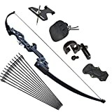 Tongtu Archery Takedown Recurve Bow and Arrows Set for Adults 30 40 lbs Aluminum Alloy Riser Hunting Archery Longbow kit Right Hand (40lbs)…