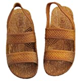 J-Slips Toddler Hawaiian Jesus Sandals w/Back Strap (Sand TDL 8/9)