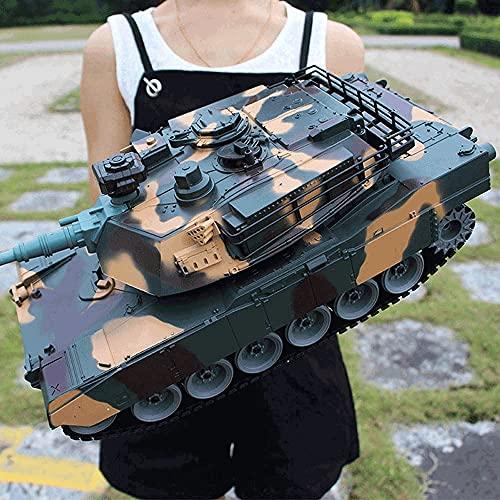 WANGCH Juguete de control remoto a escala 1/18, juguetes militares, tanque Panzer de tigre alemán, vehículos RC de 2,4 GHz con sonido y luz, tanques recargables con torreta giratoria y tanque