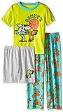 Komar Kids Boys' Big 3 Piece Jersey Pajama Set, Shark, X-Small