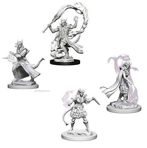 Dungeons & Dragons Nolzur's Marvelous Unpainted Miniatures Bundle: Tiefling Male Sorcerers & Tiefling Female Sorcerers