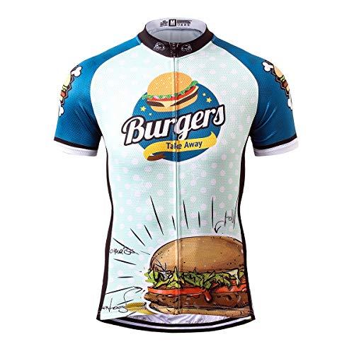 Thriller Rider Sports® Herren Burgers Sport & Freizeit MTB Fahrradbekleidung Radtrikot 5X-Large