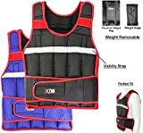 Xn8 Sports Gewichtsweste 5,10,15,20kg Gewicht Verlust Training Running Verstellbarer Jacke...
