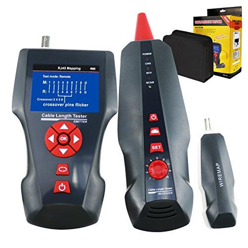 TEKCOPLUS - Cable de red multifuncional, rastreador STP/UTP 5E 6E, cable coaxial de red para RJ45, RJ11, BNC, PING/PoE