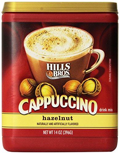Hills Bros. Cappuccino Avellana 14Onza instantánea Bebida Mix (Pack de 3)