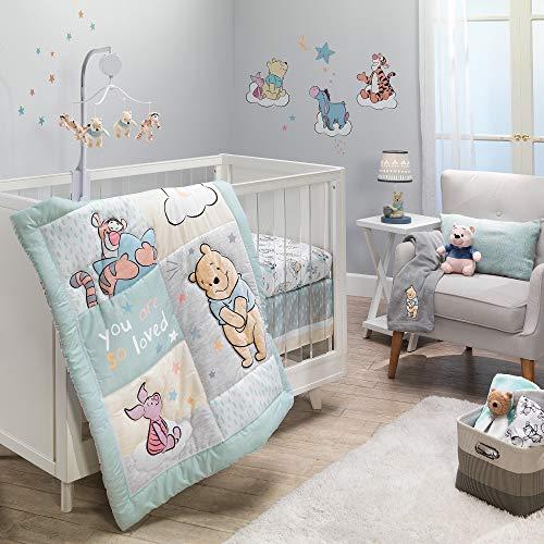 Lambs & Ivy Disney Baby Winnie The Pooh Hugs 3-Piece Nursery Crib Bedding Set