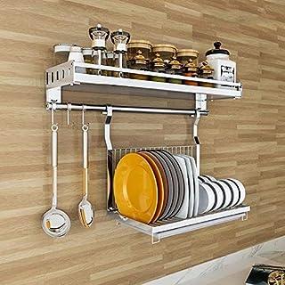 LYMUP Cuisine Mural Support de Rangement Multi-Fonction, Pliable égouttoir, Organisation Bouteille Spice, Super Portance