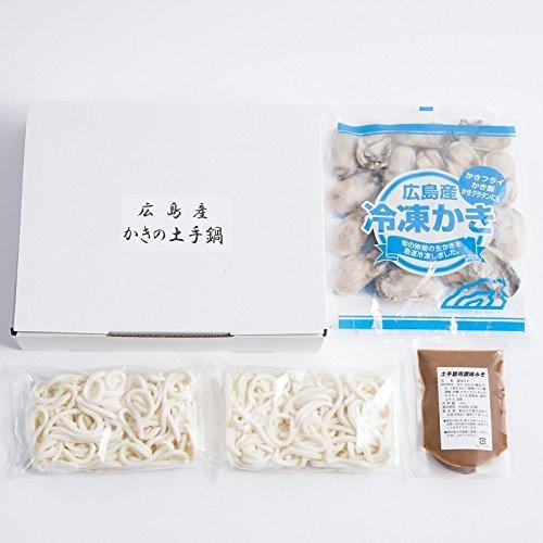 広島産かきの土手鍋セット 〔冷凍かき400g・調味みそ・冷凍うどん230g×2〕