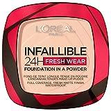 L'Oréal Paris Polvos Compactos Mate Infalible 24H, Larga Duración, Cobertura Media-Alta, Resistente al Agua, Tono: 180 Rose Sand, 50 g